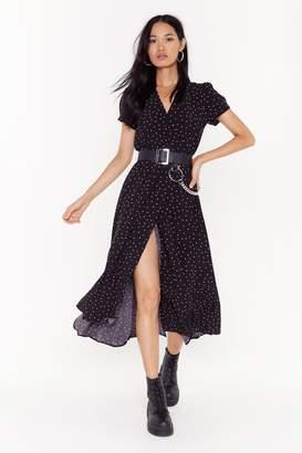 Nasty Gal Womens Don'T Spot The Party Polka Dot Maxi Dress - Black - S