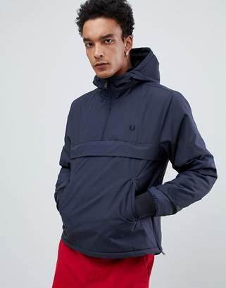 9b8f4abc Fred Perry half zip overhead brentham jacket in dark grey
