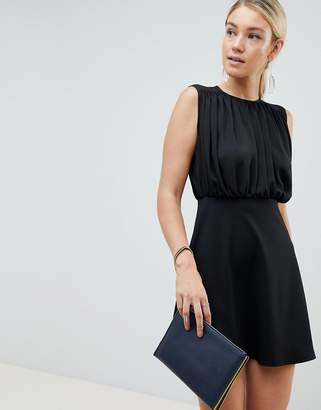 Asos Design DESIGN mini woven mix a-line dress