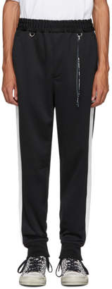 Mastermind World mastermind WORLD Black and White Side Line Track Pants