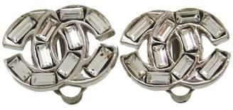 Chanel Silver Tone Metal Earring