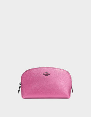 Coach Cosmetic Case 17 in Pink Calfskin