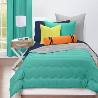 Crayola Blue Green and Timberwolf Reversible Comforter Set
