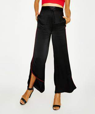 Alice In The Eve Leyla Satin Track Pant Black Red