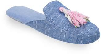 Dearfoams Women's Tassel Scuff Slippers