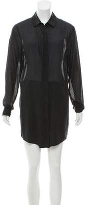 Alexander Wang Long Sleeve Mini Shirtdress