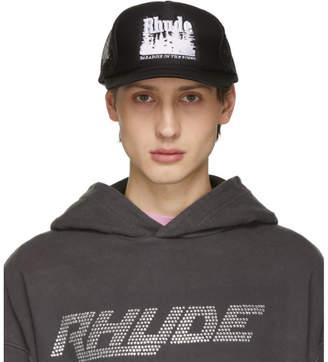 Rhude Black Paradise Trucker Hat