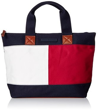 Tommy Hilfiger Flag Colorblock Shopper $58 thestylecure.com