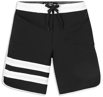 Hurley Boys' Block Party Stripe-Accented Board Shorts - Big Kid