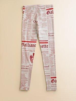 John Galliano Girl's Gazette Leggings