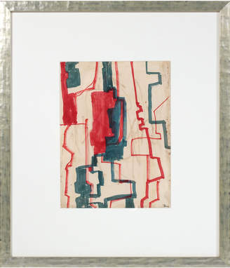 """Serena & Lily """"Geometric Abstract in Red & Blue"""" by Raphael Roig"""