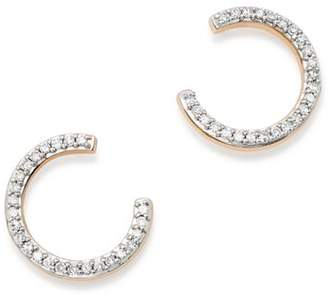 Adina 14K Yellow Gold Pavé Diamond Wrap Hoops