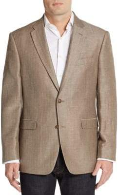 Tommy Hilfiger Regular-Fit Herringbone Linen & Wool-Blend Sportcoat