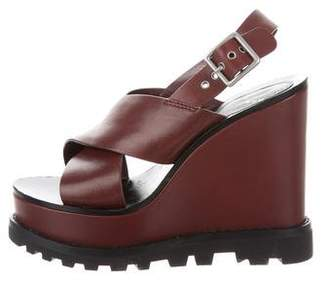 Marc by Marc Jacobs Leather Platform Wedges