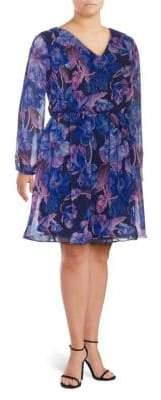 Alexia Admor Floral-Print Chiffon Dress