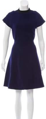Louis Vuitton Short Sleeve Knee-Length Dress