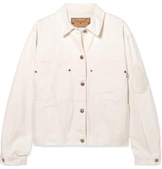 McQ Appliquéd Denim Jacket - White