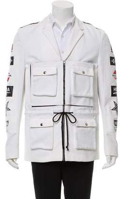 Hood by Air Logo-Accented Zip-Up Coat