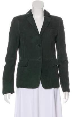 Akris Punto Long Sleeve Button-Up Blazer