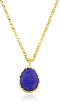 Manhattan Gold Auree Jewellery & Lapis Lazuli Pendant Necklace