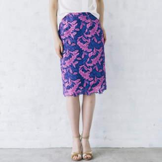 Vicky (ビッキー) - VICKY リーフ刺繍レースタイトスカート