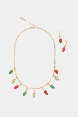 Ardene Festive Necklace Earring Set
