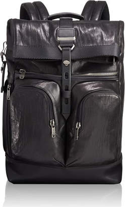 Tumi Alpha Bravo London Leather Roll-Top Backpack