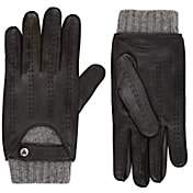 Christophe Fenwick Men's Le Mans Cashmere-Lined Leather Driving Gloves - Gray