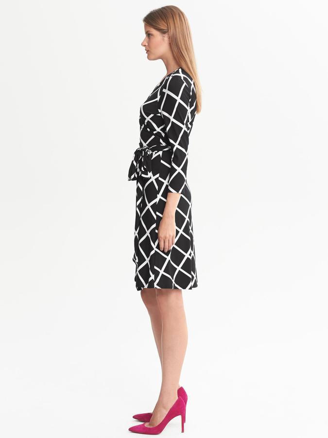 Banana Republic Gemma Windowpane Wrap Dress