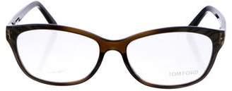 Tom Ford Metallic Square Eyeglasses