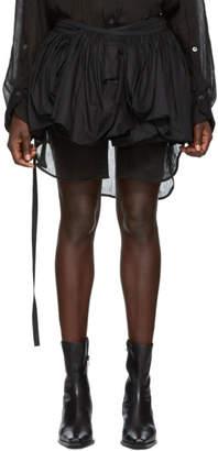 Ann Demeulemeester Black Pleated Miniskirt