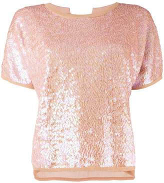 Semi-Couture Semicouture sequinned tie back top