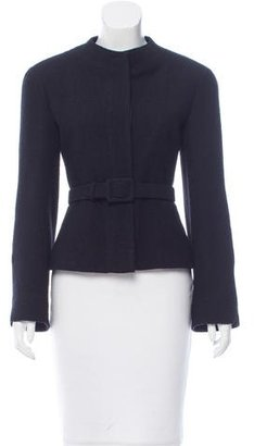 Chanel Belted Collarless Jacket