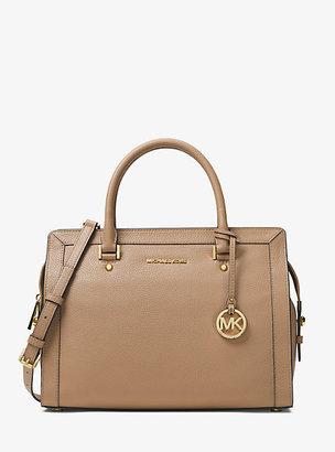 Michael Kors Collins Large Leather Satchel $368 thestylecure.com