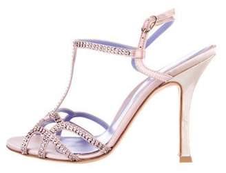 Sergio Rossi Embellished Satin Sandals