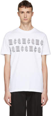 McQ White Gothic Repeat Logo T-Shirt