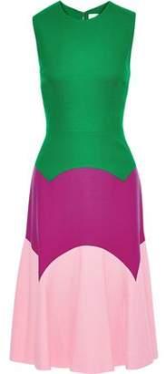 Novis The Thornton Color-block Wool-cady Dress