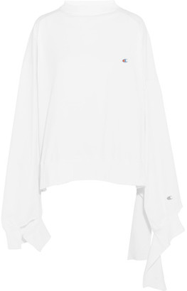 Vetements - + Champion In Progress Oversized Cotton-jersey Top - White $540 thestylecure.com