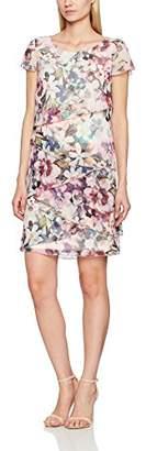 Betty Barclay Women's Chiffon Floral Short Sleeve Dress,8 (Manufacturer Size:36)