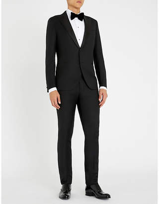 Eleventy Peak-lapel slim-fit wool suit