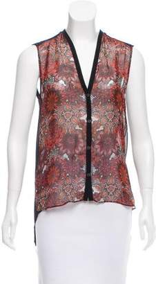 Helmut Lang Floral Print Sleeveless Top