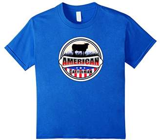 American Proud Cattleman Farmers USA Flag Pride T-shirt