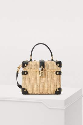 Dolce & Gabbana Dolce Box straw bag