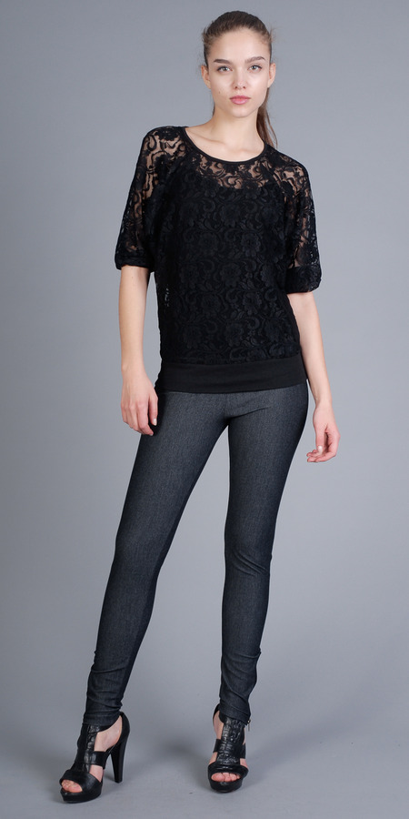 Black Lace Tops by eDressMe