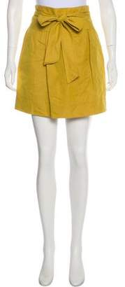 Robert Rodriguez Mini Linen-Blend Skirt