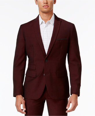 INC International Concepts Men's Slim-Fit Burgundy Blazer, Only at Macy's $129.50 thestylecure.com