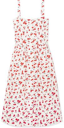 DAY Birger et Mikkelsen HVN Laura Printed Cotton Midi Dress - White