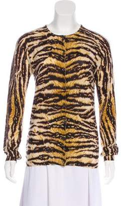 Dolce & Gabbana Animal Print Button-Up Cardigan