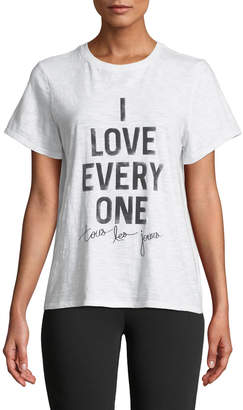 Cinq à Sept Tours Les Jours I Love Everyone Short-Sleeve Graphic Tee