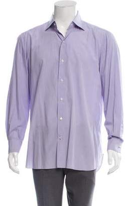 Isaia Plaid Dress Shirt purple Plaid Dress Shirt